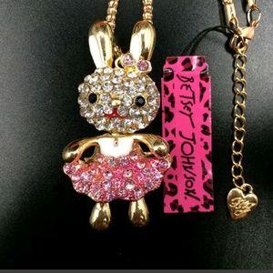 New Betesy Johnson Bunny Necklace